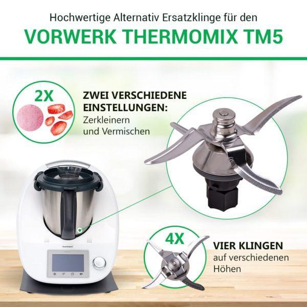 Ersatzmesser für Thermomix TM5 Küchenmaschine