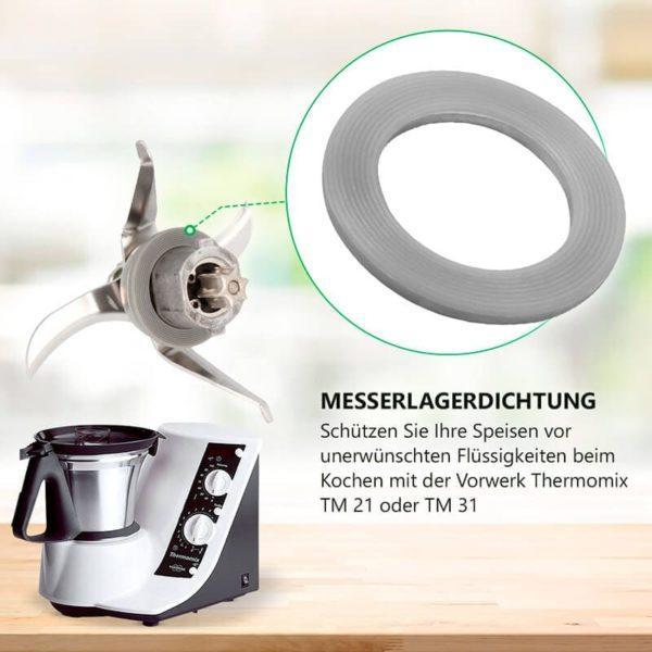 Messer Dichtung für Vorwerk Thermomix TM21 TM31