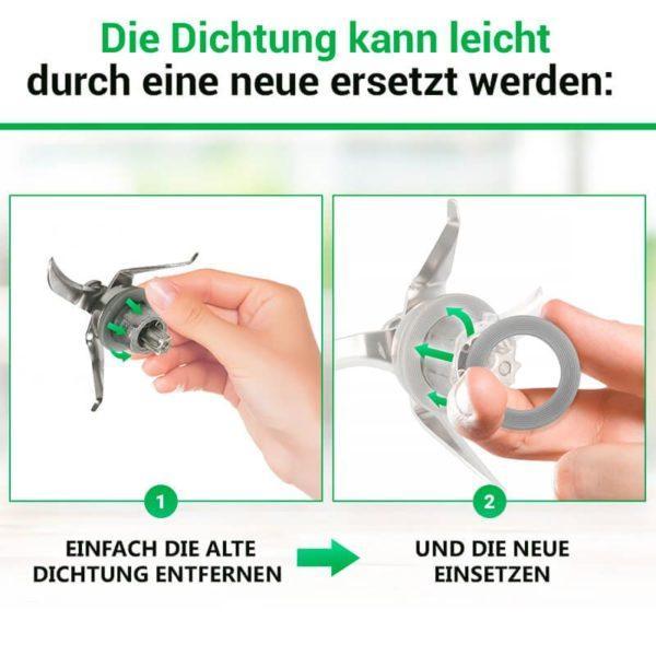 Messerdichtung für Küchenmaschine Vorwerk Thermomix TM21 TM31