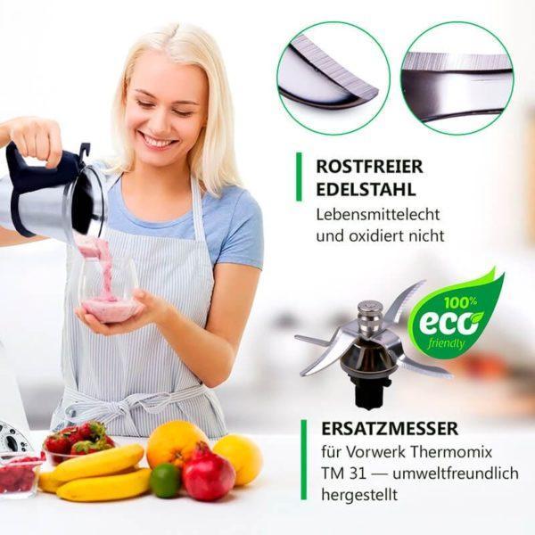 Mixmesser Messer für Thermomix TM31 Küchenmaschine