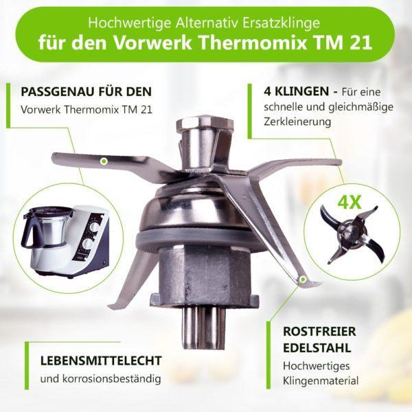 Mixmesser für Vorwerk Thermomix Küchenmaschine TM21