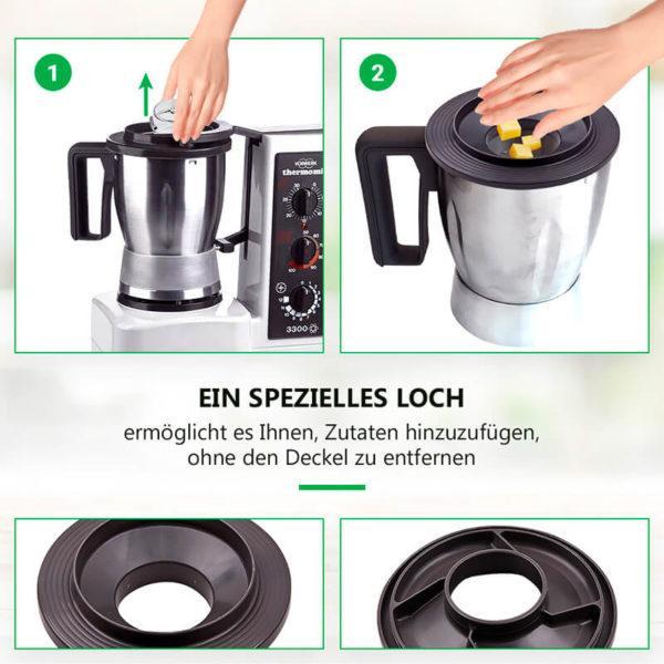 Mixtopfdeckel für Vorwekt Thermomix Küchenmaschine TM3300