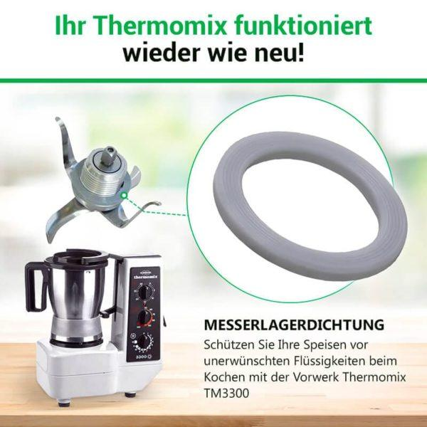 Messereinsatz Dichtung für Küchenmaschine Thermomix TM3300